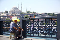 Istanbul's more than 14 million residents are sweltering in the hottest week of this summer, with felt temperatures hitting around 40 degrees Celsius according to meteorologists.