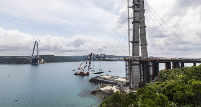Istanbul's third bridge over Bosphorus nears completion