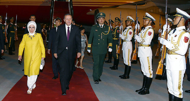 President Erdoğan arrives in Beijing