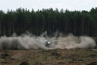 A Russian air force helicopter crashed during an air show on Sunday in front of thousands of spectators, killing one pilot, the latest in a string of military crashes.