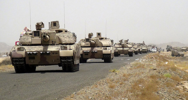 Saudi tanks in Yemen, aid forces loyal to Mansour
