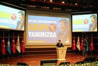Prime Minister Ahmet Davutoğlu on Thursday harshly criticized the chairman of the Nationalist Movement Party (MHP) for his uncompromising stance since the June 7 general elections, while he thanked...