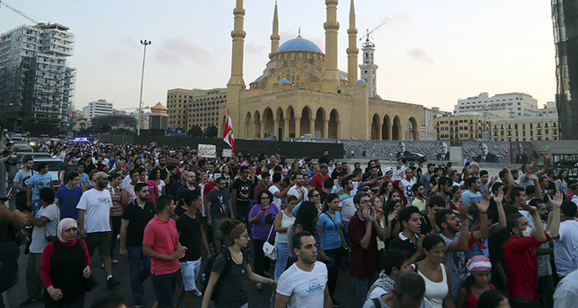 Beirut braces for protests as thousands gather