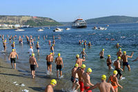 The annual 29th Çanakkale Strait Swimming Race was held on Sunday with 530 participants.