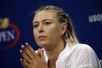 Russian third seed Maria Sharapova withdrew from the U.S. Open with a right leg injury, easing the path to a calendar-year Grand Slam for top-ranked Serena Williams.