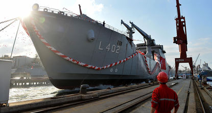 TCG Bayraktar, amphibious tank landing ship designed to carry up to 20 tanks at once, was commissioned in Istanbul's Tuzla district through a ceremony attended by President Recep Tayyip Erdoğan on...