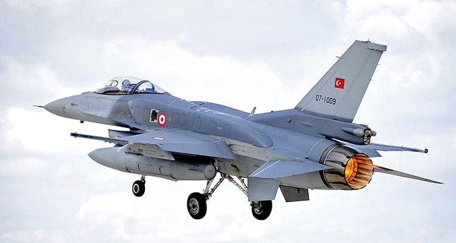 F-16's harassed from both land and air: Turkish army