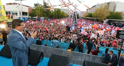 Prime minister and Justice and Development Party (AK Party) chairman, Ahmet Davutoğlu started his party's election rallies in the northern province of Samsun where he introduced several pledges...