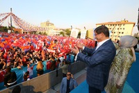 Prime minister and Justice and Development Party (AK Party) chairman, Ahmet Davutoğlu, said at his party's meeting in the western Manisa province yesterday that the AK Party made a policy of unity...