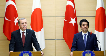 Thursday evening, President Recep Tayyip Erdoğan met with Japanese Prime Minister Shinzo Abe at the Japanese prime ministry headquarters. Delivering a speech at the meeting, Erdoğan extended his...