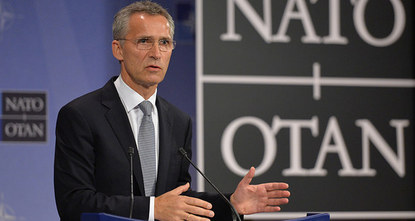 Russia's continued support for Syrian President Bashar al-Assad is only serving to prolong the crisis there, NATO Secretary-General Jens Stoltenberg said on Monday.