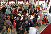 Presidency of Religious Affairs (DİB) head Mehmet Görmez met on Monday at the directorate with Turkmen families, mostly women and children who had escaped DAESH terror in Kirkuk, Mosul and Tal...