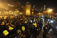 Racial tension soared in Chicago Tuesday as officials released a graphic video of a police officer shooting a black teen 16 times, shortly after he was charged for the death.  The