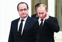 The Kremlin said Friday that Western powers were not ready to form a coalition with Russia to fight DAESH militants in Syria, after talks between President Vladimir Putin and French leader Francois...