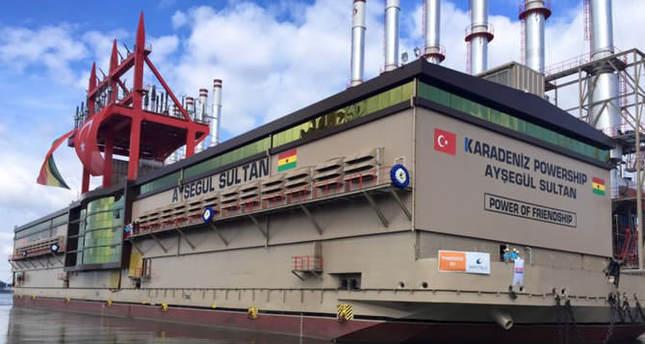 Turkish power ship to meet Ghana's energy needs