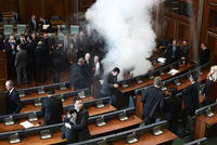 Kosovo police detained three opposition MPs for questioning Monday after tear gas was used to disrupt parliament for a fifth time, two days ahead of a rare visit by a US Secretary of...