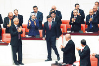 The 64th term government won a vote of confidence from Parliament late Monday, achieving 315 votes of support when it required only 276 votes to be made legitimate. Prime Minister Ahmet Davutoğlu...