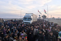 Almost 110,000 refugees headed toward the Turkish-Syrian border following offensives by the regime forces of Syria's Bashar Assad against western Aleppo, which has continued for the last week with...