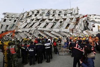 More than 70 people were missing one day after a 6.4-magnitude earthquake killed at least 23 in southern Taiwan, authorities said Sunday.