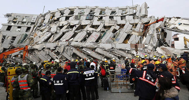 At least 13 dead, hundreds injured in Taiwan earthquake