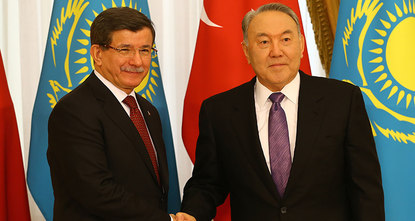 Turkish Prime Minister Ahmet Davutoğlu said Saturday that Turkey and Kazakhstan would be two central countries of Eurasia in the fields of energy, trade and transportation.br /