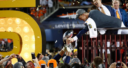 The best thing for Peyton Manning is that he won the Super Bowl.br / br / A close second is that he never has to lace em up again. Probably.br / br / Constantly harassed, never quite...