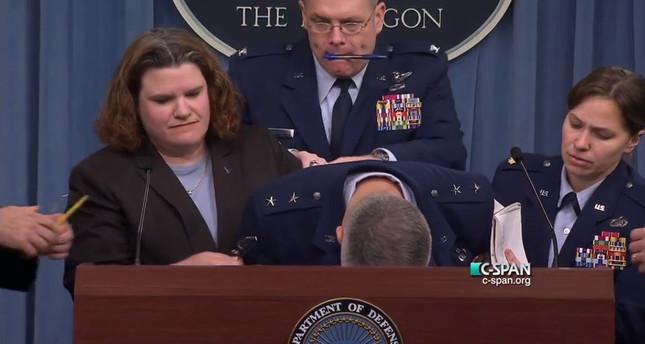 US general faints during press briefing at Pentagon