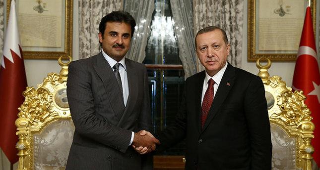 Erdoğan meets Qatari emir, discusses mutual strategies