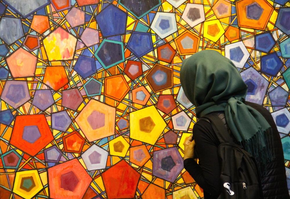 Геометрические узоры в Исламском искусстве на выставке в Стамбуле
