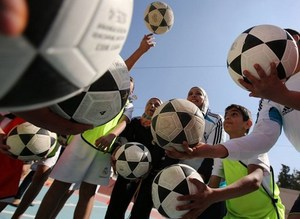 Real Madrid meets with children in Gaza