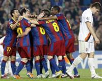 Barca crush Shakhtar as Real showdown looms