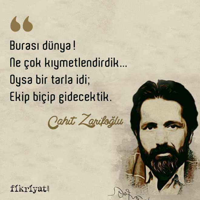Cahit Zarifoğlu'nun hayatına dair bilmeniz gereken 20 ilginç bilgi - Galeri  - Fikriyat Gazetesi