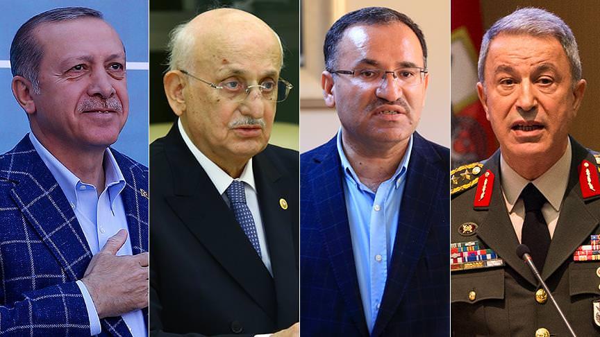 Erdoğan, Kahraman, Bozdağ ve Akar müşteki
