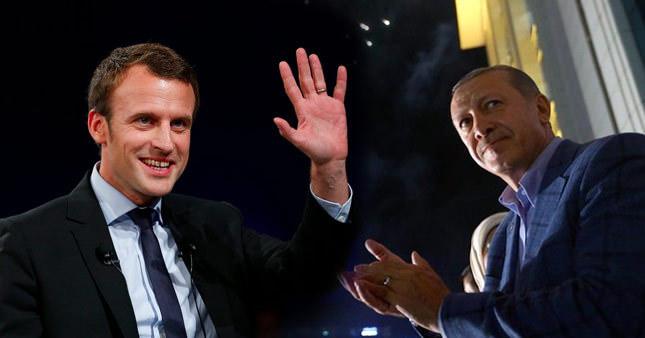 Erdoğan'dan Macron'a tebrik telefonu