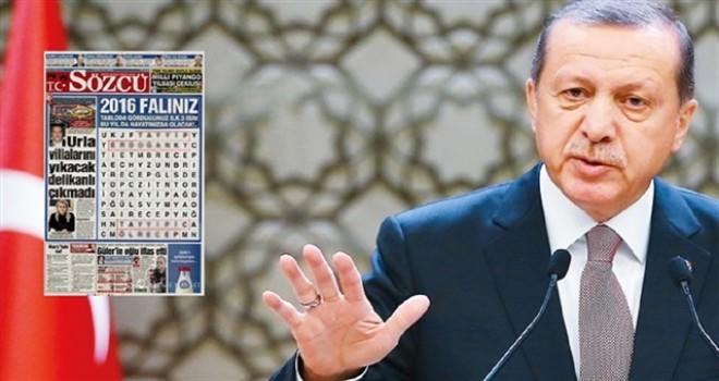 Erdoğan'ı bulmaca üzerinden ölümle tehdit eden Sözcü'ye mahkemeden şok