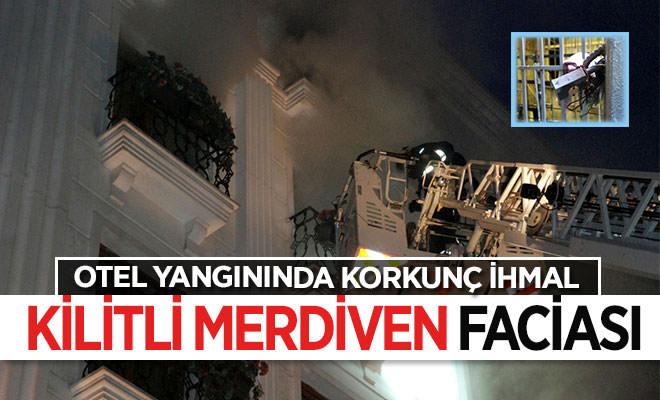 Fatih Kumkapı'da otel yandı