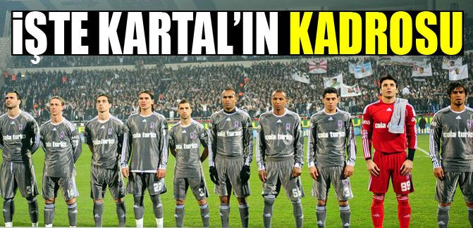 İşte Beşiktaş'ın kadrosu