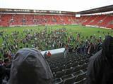 Seyirci sahaya girdi maç oynanamadı