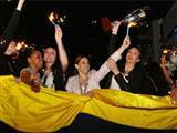 Sarı Melekler'den şampiyonluk partisi