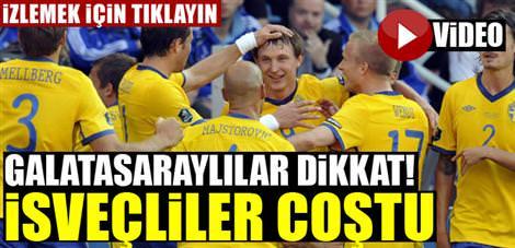 "Elmander'li İsveç gol şov yaptı! <font color=""red"">İzleyin!</font>"