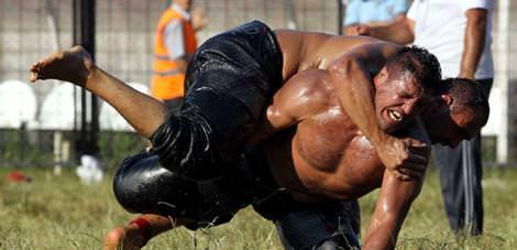 1419 güreşçiye 2 ton yağ!