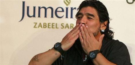Maradona kaza geçirdi