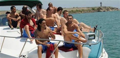 Trabzonspor'un yat keyfi