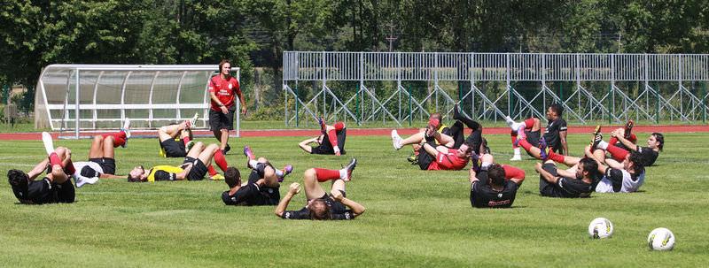 Galatasaray kondisyon çalıştı