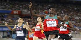 Erkekler 1500 metrede altın Kiprop'un