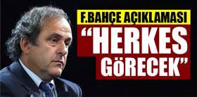 Platini Fenerbahçe'yle ilgili konuştu