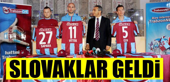 Slovaklar geldi