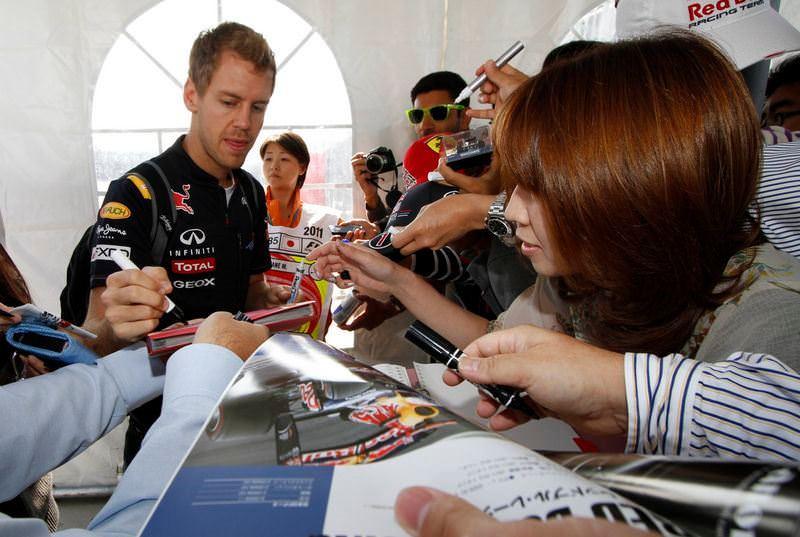 Japonya'da ilk cep Vettel'in