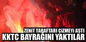 KKTC bayrağını yaktılar!