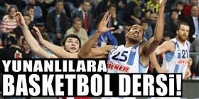 Yunanlılara basketbol dersi!